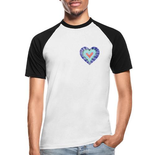 HeartSpread 18Little red heart in a green garden - Men's Baseball T-Shirt