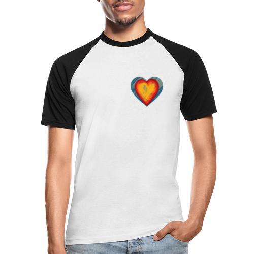 Warm lovely heart - Men's Baseball T-Shirt