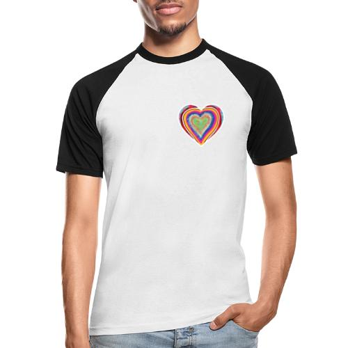 A heart in hearts is pure love on many levels - Men's Baseball T-Shirt