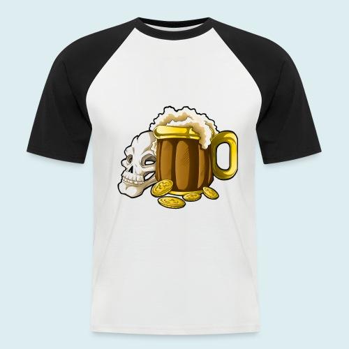 beer - Maglia da baseball a manica corta da uomo