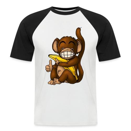 Super Fröhlicher Affe - Männer Baseball-T-Shirt