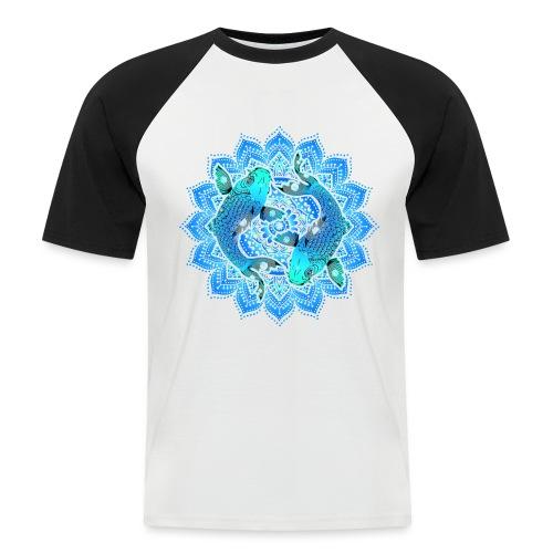 Asian Pond Carp - Koi Fish Mandala 1 - Männer Baseball-T-Shirt