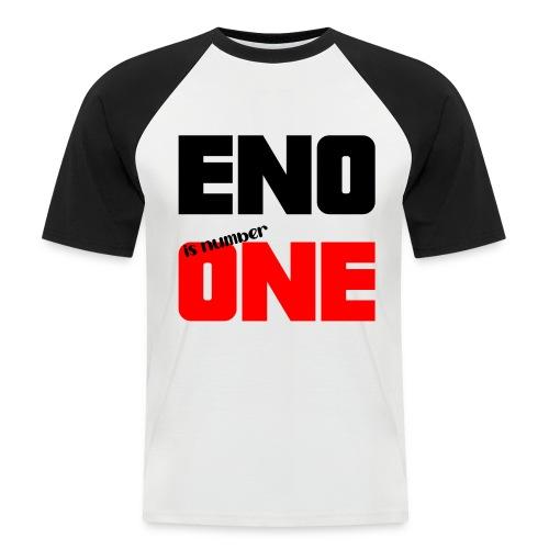 eno is number one - retro / musta - Miesten lyhythihainen baseballpaita