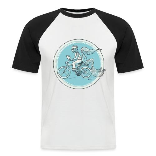 To the Beach - Backround - Männer Baseball-T-Shirt