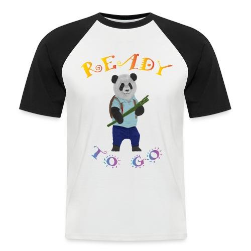 Panda School - T-shirt baseball manches courtes Homme