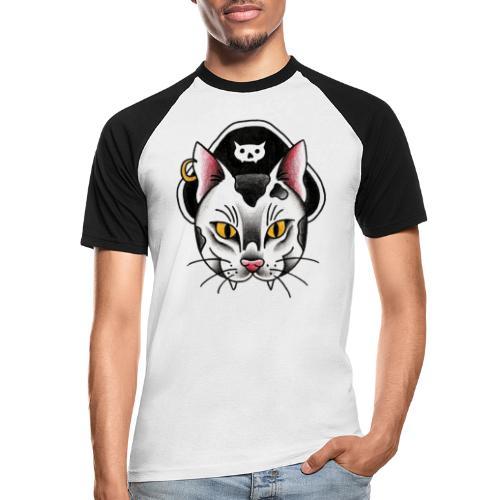Piratecat - Maglia da baseball a manica corta da uomo