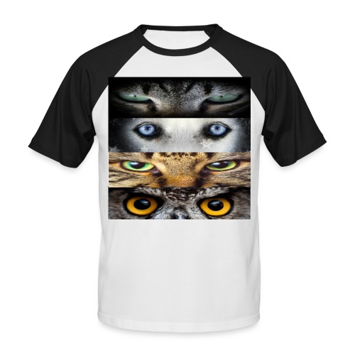 eyes cats - T-shirt baseball manches courtes Homme