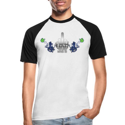 F&%k you Corona - Männer Baseball-T-Shirt