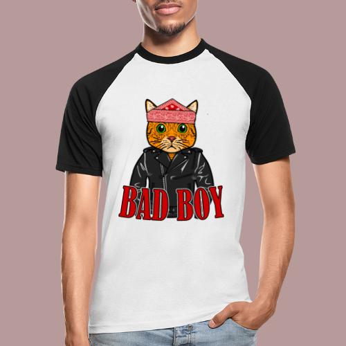 Bad boy chat roux rockeur - T-shirt baseball manches courtes Homme