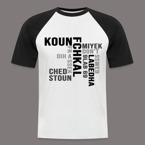 KOUN FCHKAL Nuance de gris - T-shirt baseball manches courtes Homme