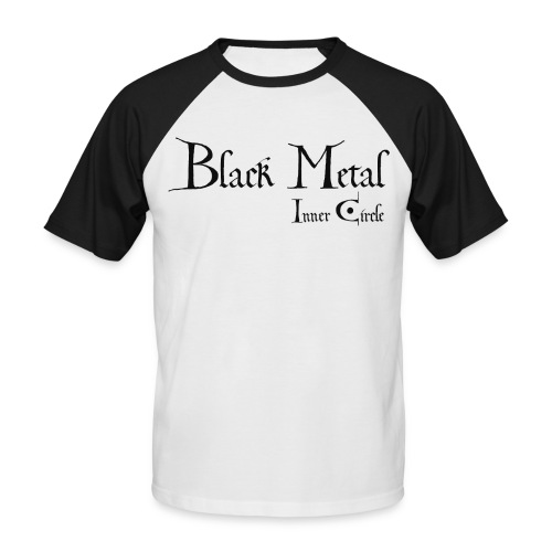 black metal Inner Circle, black ink - Men's Baseball T-Shirt