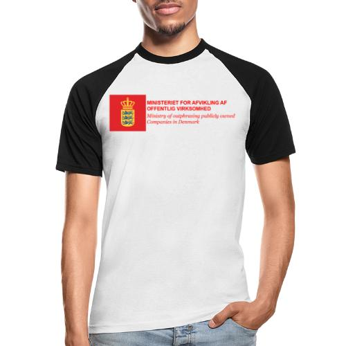 MINISTERIET FOR AFVIKLING AF OFFENTLIG VIRKSOMHED - Kortærmet herre-baseballshirt