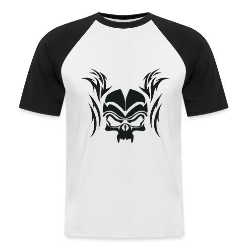 Silhouette Skull & Maori Flame - Men's Baseball T-Shirt