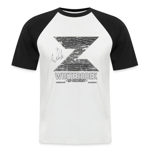 ZK COMMUNITY LOGO VER.01 - BLACK SIGNED - Männer Baseball-T-Shirt