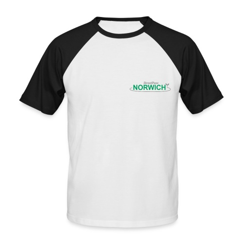 Streetpass NEW FOR PRINT greenandgrey png - Men's Baseball T-Shirt