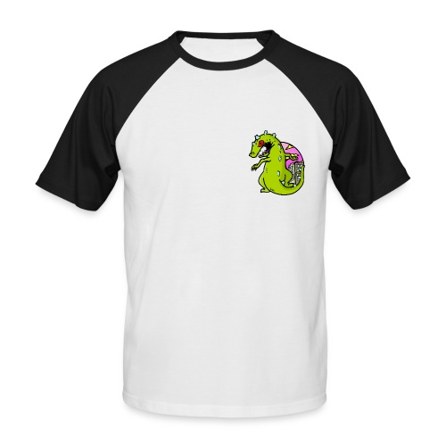 dinosaur - Kortærmet herre-baseballshirt