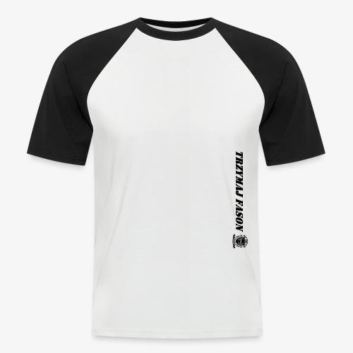 logo napis2 - Koszulka bejsbolowa męska