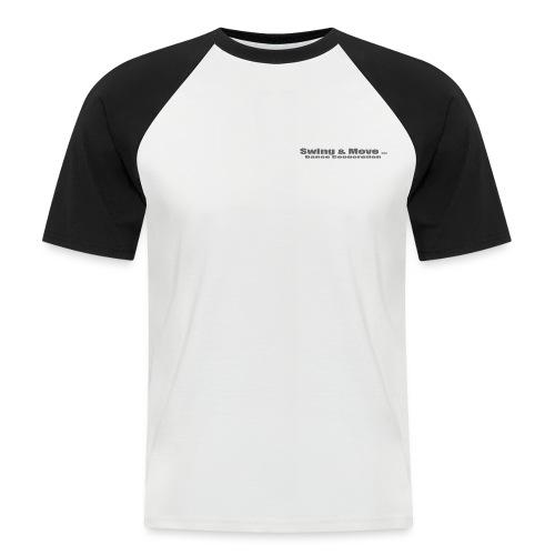 logo 2 grau - Männer Baseball-T-Shirt