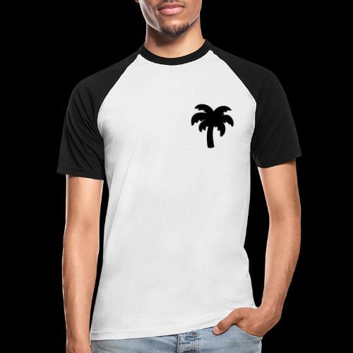 Palm Basic Black - Kortærmet herre-baseballshirt
