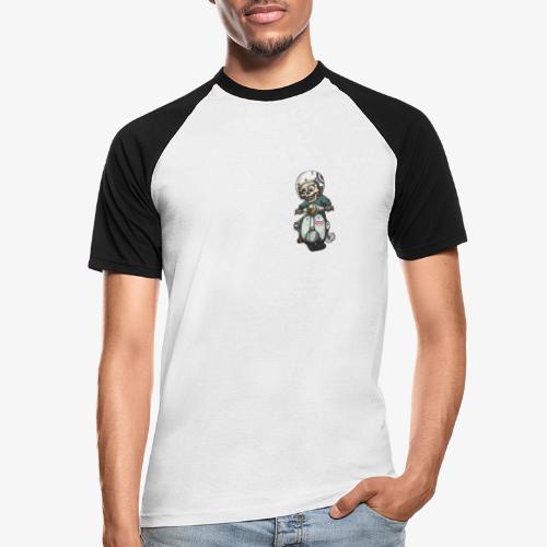 Skullterist - Solo Big Print - Männer Baseball-T-Shirt