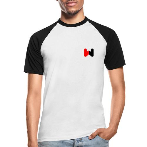 W (Black / Red Logo) - Men's Baseball T-Shirt