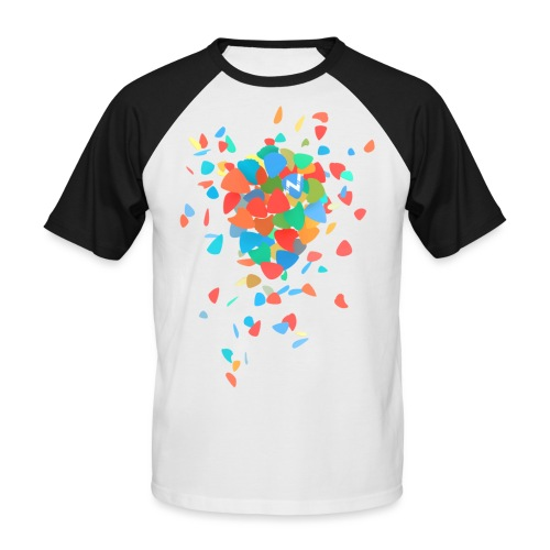 Guitar Pick Explosion - Men's Baseball T-Shirt
