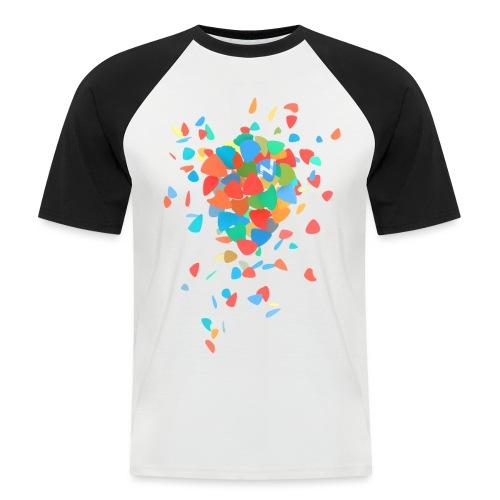 Guitar Pick Explosion - Men's Baseball T-Shirt