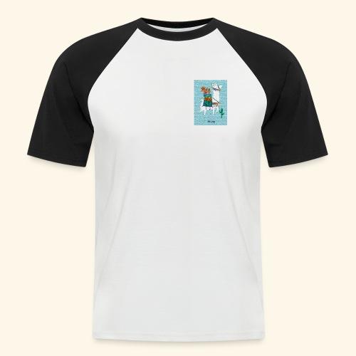 Lama Gang - Männer Baseball-T-Shirt