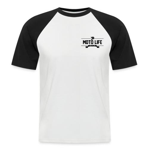 MOTO LIFE Schwarz - Männer Baseball-T-Shirt