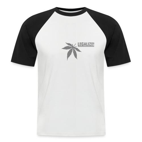 Hanfblatt-Raster (Aus Punkten) - Männer Baseball-T-Shirt