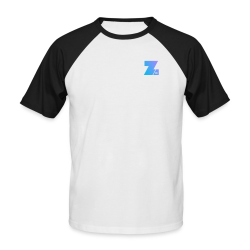 4658 2CSmall logo upload - Men's Baseball T-Shirt