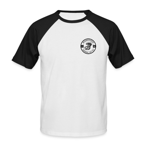 xt stammt logo schwarz - Männer Baseball-T-Shirt