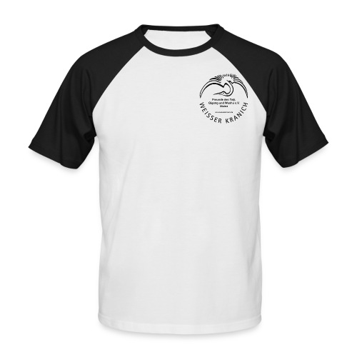 kranichlogo - Männer Baseball-T-Shirt