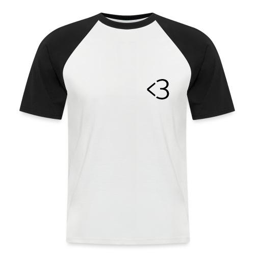 <3 - Kortærmet herre-baseballshirt