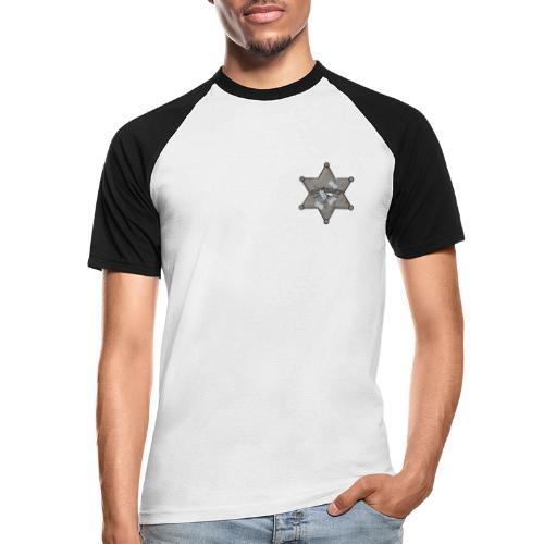 Rusty Sheriff's Badge - Men's Baseball T-Shirt