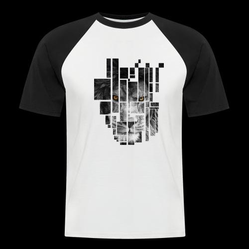 Pixel Lion Tattoo Inspire - Men's Baseball T-Shirt