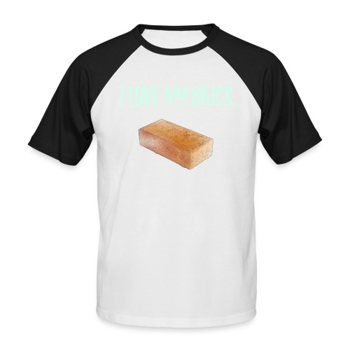I love my brick - Men's Baseball T-Shirt
