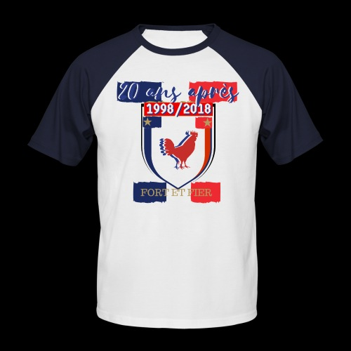 france FRANCE foot coupe du monde football - T-shirt baseball manches courtes Homme