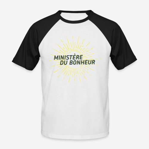 Ministère du Bonheur - T-shirt baseball manches courtes Homme