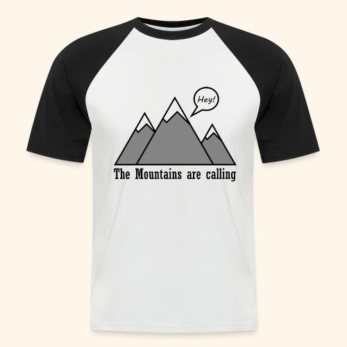 mountains calling - Männer Baseball-T-Shirt