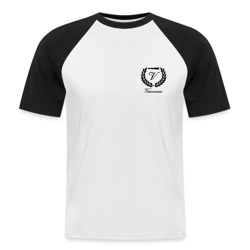 visio sans fond avec text - T-shirt baseball manches courtes Homme