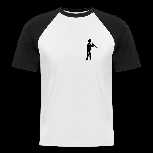 Oboist Piktogramm schwarz - Männer Baseball-T-Shirt