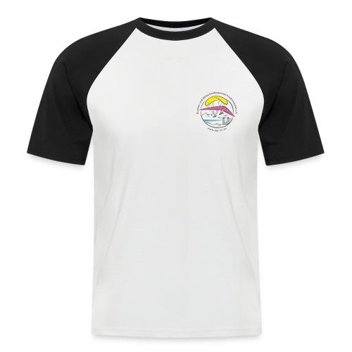 logo dgffn hg weiss transparent - Männer Baseball-T-Shirt