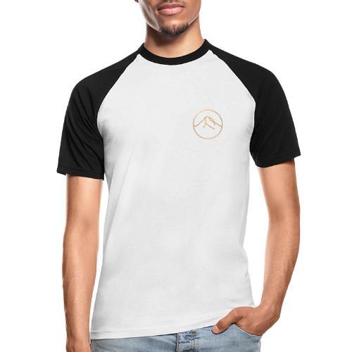 Goldener Berg - Männer Baseball-T-Shirt