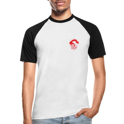 Sea of red logo - small red - Men's Baseball T-Shirt