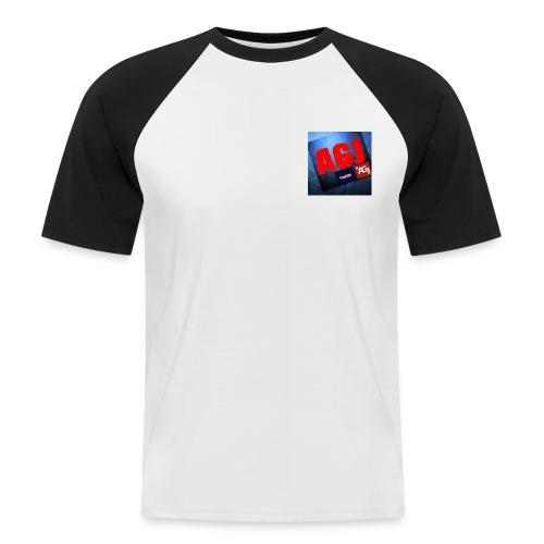 AGJ Nieuw logo design - Mannen baseballshirt korte mouw