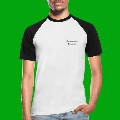 Rover logo en Tekst, Je kan zelf naam toevoegen - Mannen baseballshirt korte mouw