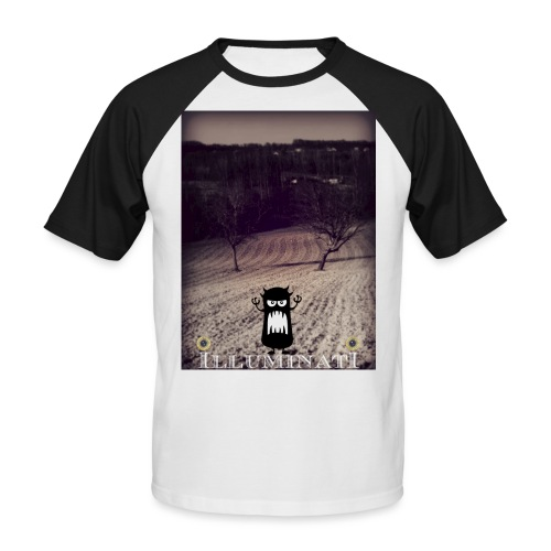 illuminati - T-shirt baseball manches courtes Homme