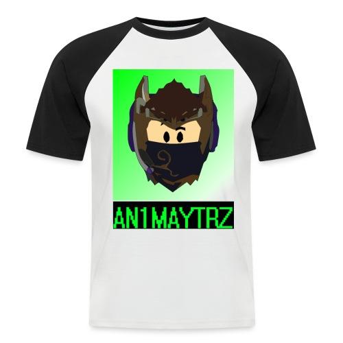 AN1MAYTRZ logo + title - Men's Baseball T-Shirt