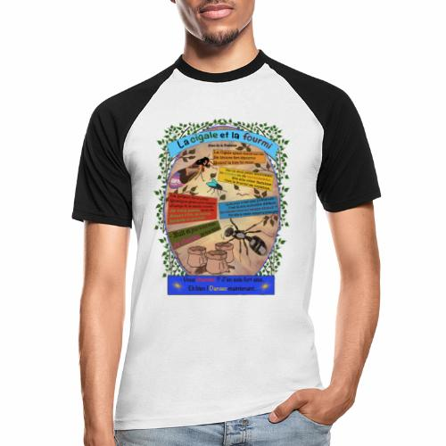 La Cigale et la Fourmi (Jean de la Fontaine) - T-shirt baseball manches courtes Homme